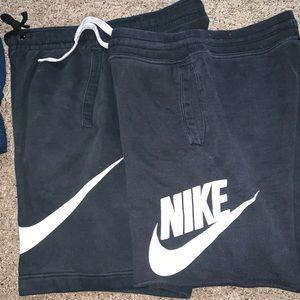 (2) Nike fleece shorts